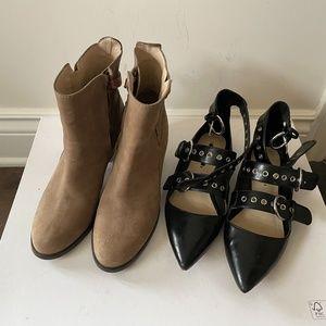 2 Pairs Zara Boots Flat